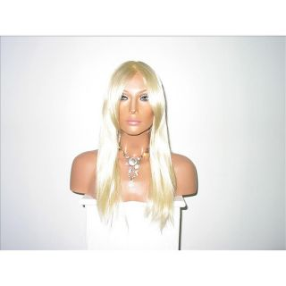 Star Flow Platinum Blonde Full Lace 26 inch Human Hair Wig