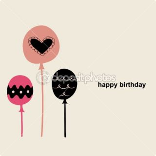 Balloon birthday card design  Stock Vector © jinru huang #2129460
