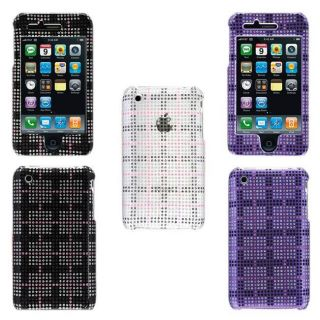 Apple iPhone 3G 3GS Check Designed Diamond Glitter Case
