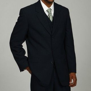 Phat Farm Mens Navy 3 button Vested Suit