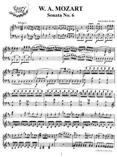 Mozart Piano Sonata No. 6 in D Major, K.284 Instantly download and
