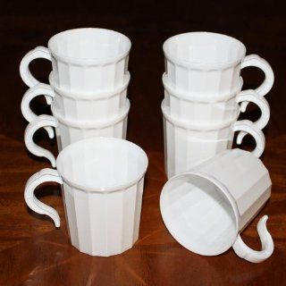 Case 288   White Plastic Coffee Mug Disposable / Reuseable