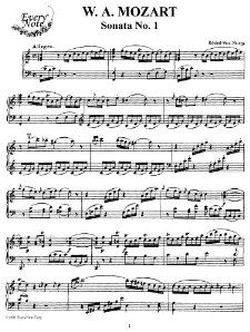 Mozart Piano Sonata No. 1 in C Major, K.279 Instantly download and