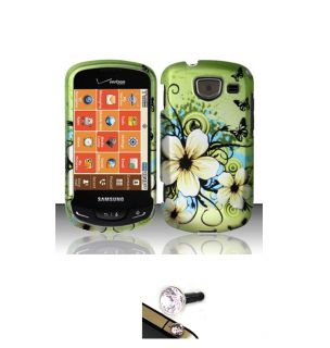 Samsung Brightside U380 Hawaii Flower Protector Case with Charm Plug