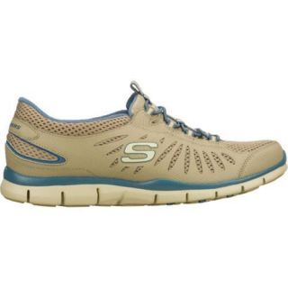 Womens Skechers Gratis Big Idea Brown/Blue