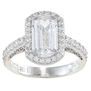 Tacori IV Cubic Zirconia Epiphany Emerald Cut Ring