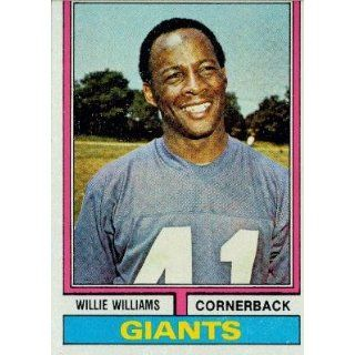 1974 Topps #284 Willie Williams   New York Giants (Football Cards) EX