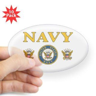 Sticker Clear (Oval) (10 Pack) Navy United States Navy