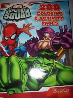 Marvel Super Hero Squad 288 Pg Coloring and Activity Book
