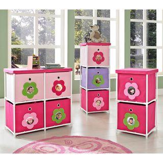 Altra Kids Pink Flower Bin Storage System