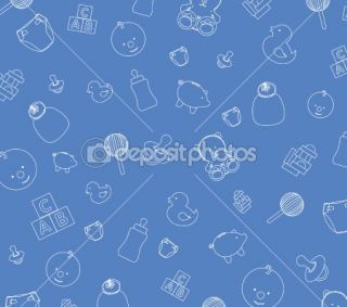 Blue baby wallpaper  Stock Photo © Jo Ingate #2278960