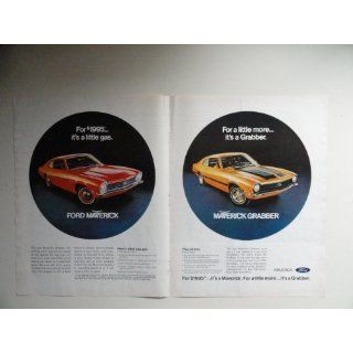 Ford Maverick/ Maverick Grabber authentic 1970 ad. print. 2 Full pages