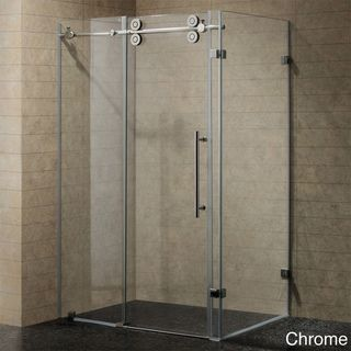 VIGO 60 inch Frameless 0.375 inch Shower Enclosure With Clear Glass