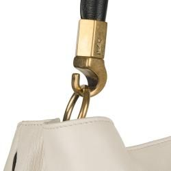 Yves Saint Laurent Roady Ivory Leather Hobo Bag