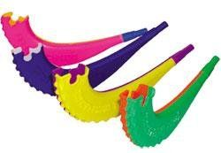 Plastic Toy Shofar Assorted Colors   1 Shofer Toys