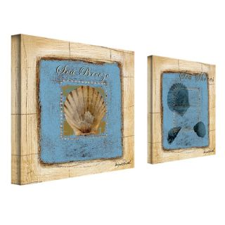 Miguel Paredes Sea Shells 2 panel Art Set