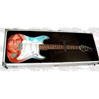 KEITH URBAN Autographed AIRBRUSHED Guitar  DISPLAY CASE
