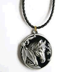Native American Indian Horse Necklace Clothing