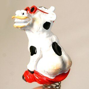 Funny Mooning Dashboard Cow Toys & Games