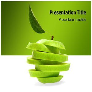 Weird Green Apple Powerpoint Template   Weird Green Apple