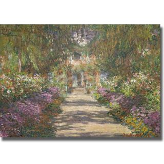 Claude Monet Garden at Giverny Canvas Art