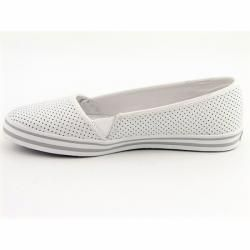 DC Shoes Womens White Venice Slip on Flats (Size 10)