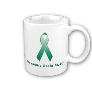 Traumatic Brain Injury Awareness Ribbon Coffee Mug
