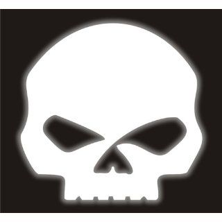 REFLECTIVE Harley Davidson Willie G Skull helmet decal