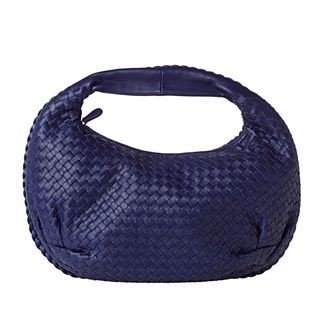 Bottega Veneta Veneta Belly Royal Blue Woven Leather Hobo Bag