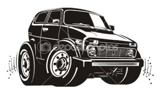 Vector cartoon jeep  Stock Vector © Aleksandr Volodin #2419289