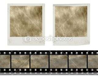 Vintage instant photo frames and film  Stock Photo © Artida #2439398
