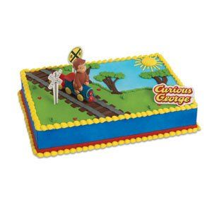 Curious George Train Cake Decorating Topper Kit: Toys