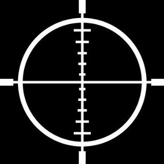 10 hunting rifle scope sight cross hairs Die Cut decal sticker for
