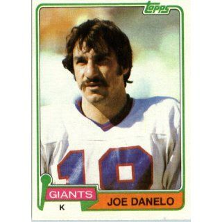 1981 Topps # 328 Joe Danelo New York Giants Football Card