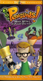 321 PenguinsMoon Menace on Planet T [VHS] Veggie Tales