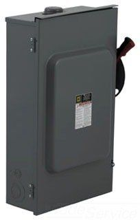 H321NRB SQUARE D 3 PHASE 30 AMP FUSIBLE DISCONNECT HEAVY DUTY 3P 250V