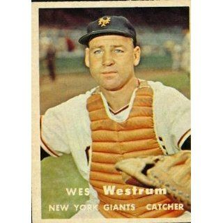 1957 Topps #323 Wes Westrum   New York Giants (Baseball Cards) EX   Ex