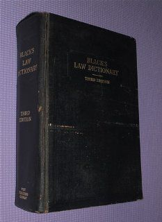 Blacks Law Dictionary Third Edition Henry Campbell Black