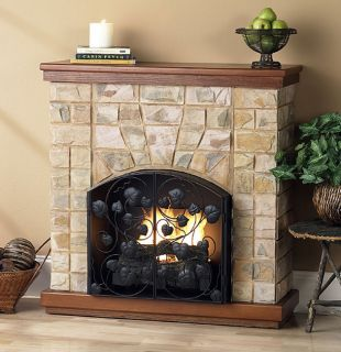 Lisa Faux Stone Ventless Fireplace