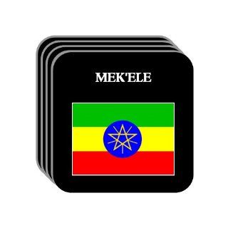 Ethiopia   MEKELE Set of 4 Mini Mousepad Coasters