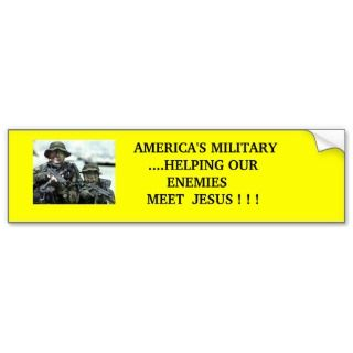 Americas Military Bumper Sticker