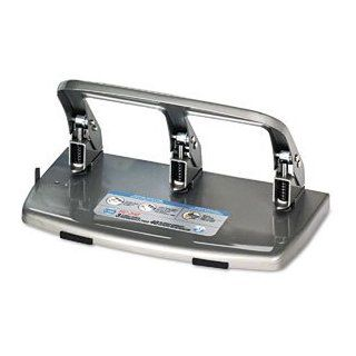 Carl HC 340 Heavy Duty 3 Hole Punch Silver (PAck of 2