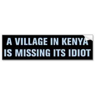 Political Bumper Sticker