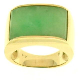 Mason Kay14k Yellow Gold Jadeite Saddle Ring