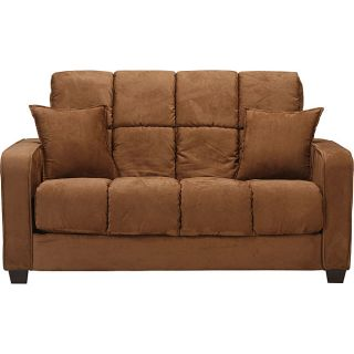 Cara Dark Brown Microfiber Futon Loveseat Bed