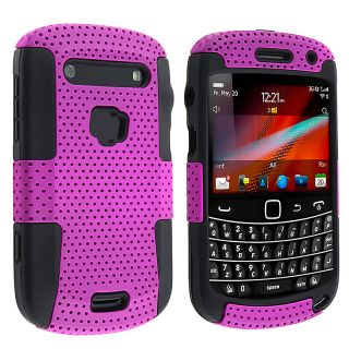 Black/ Purple Hybrid Case for BlackBerry Bold 9900/ 9930