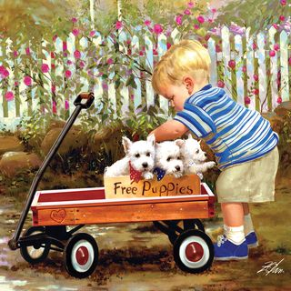 Masterpieces 1000 piece Puppy Love Jigsaw Puzzle (25x25)
