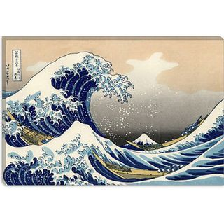 Katsushika Hokusai The Great Wave off Kanagawa Gallery Wrapped
