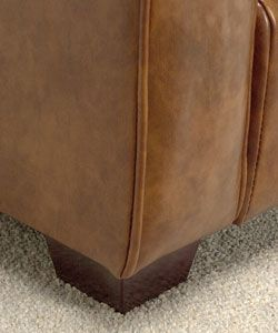 Magnolia Bomber Brown Leather Chair