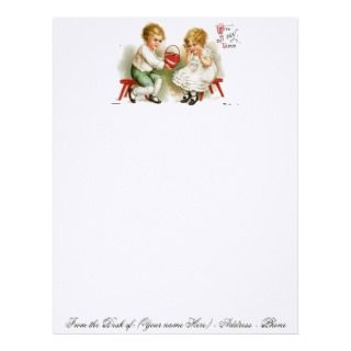 VALENTINE STATIONARY ON LINEN PAPER STOCK   GIFTS CUSTOM LETTERHEAD